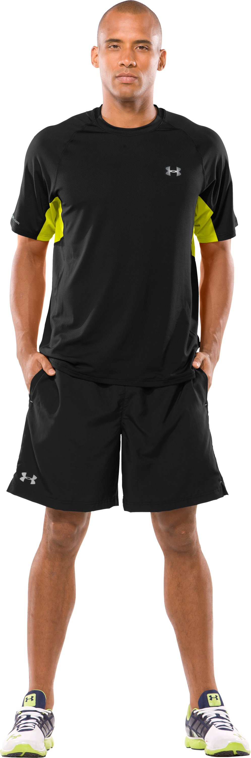 Men's coldblack® UA Run Short Sleeve T-Shirt, Black