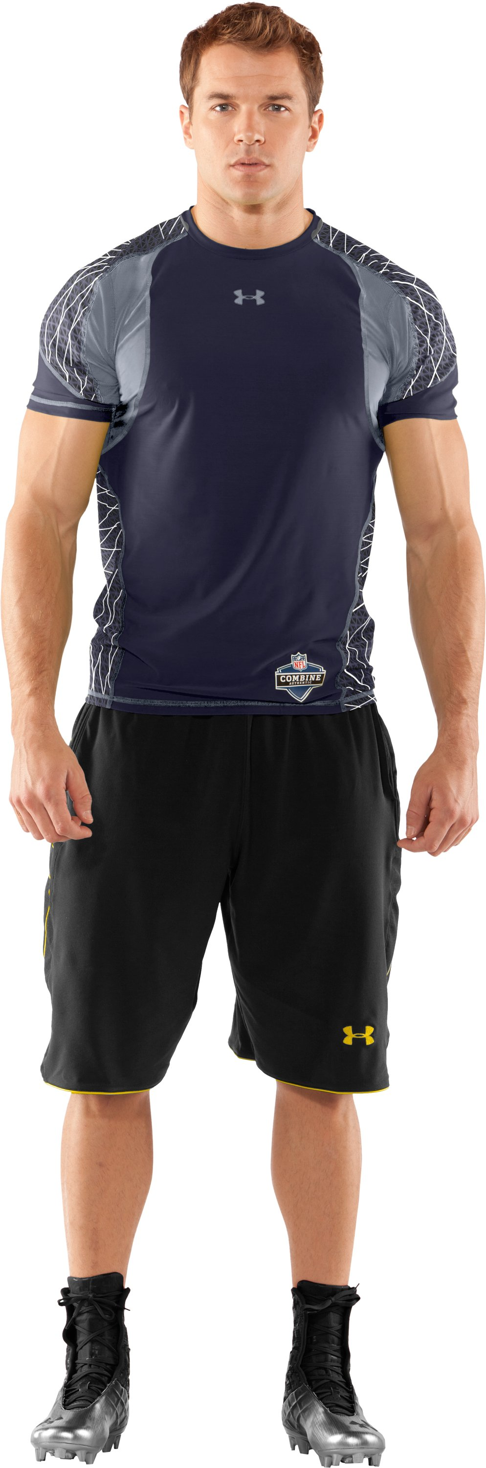 Men's NFL Combine Authentic Warp Speed Short Sleeve, Midnight Navy, Front