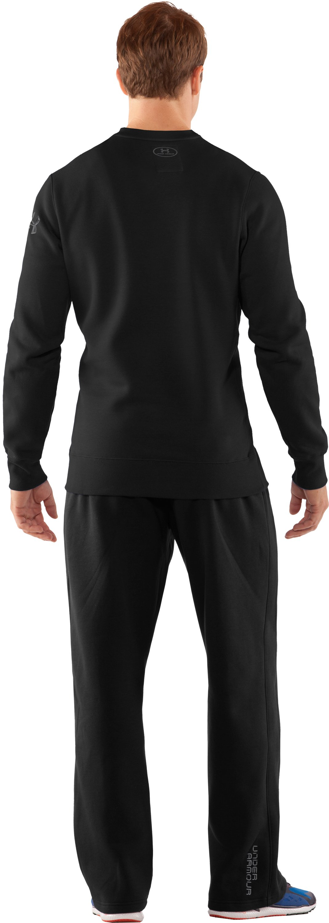Men's Charged Cotton® Storm Crew, Black , Back