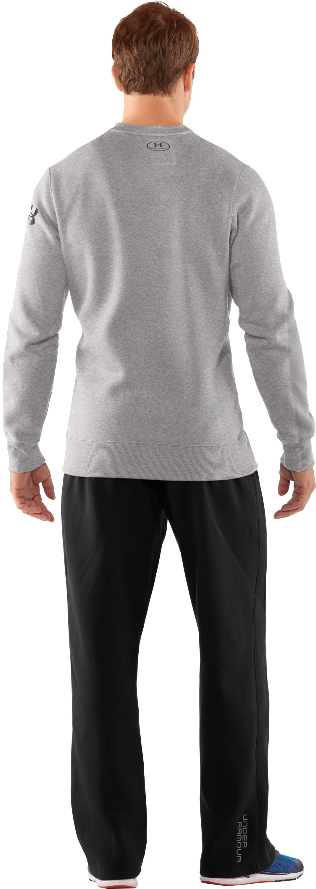 Men's Charged Cotton® Storm Crew, Silver Heather, Back