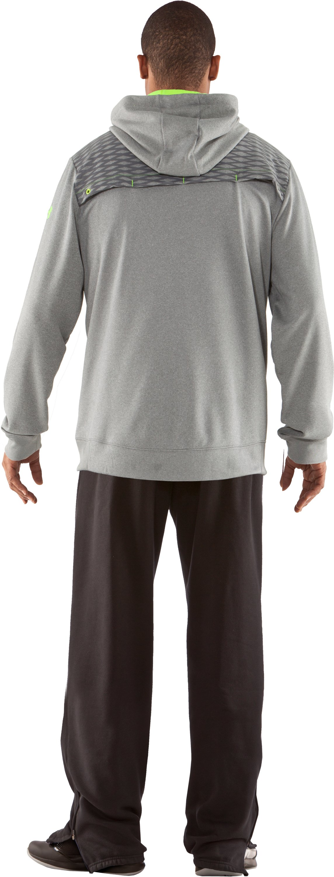 Men's UA Fed Hill Hoodie, True Gray Heather, Back