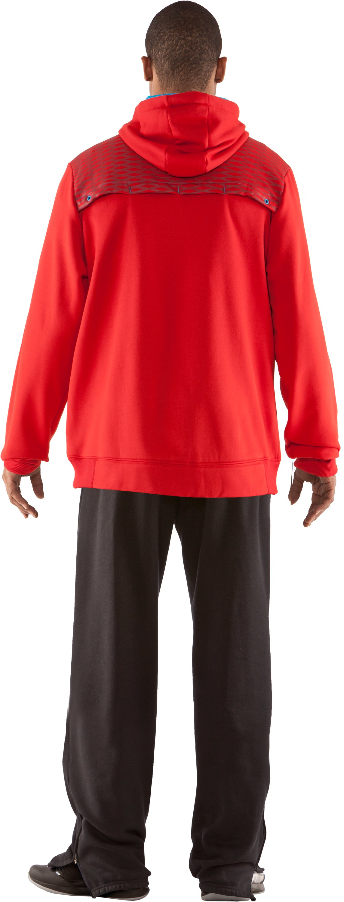 Men's UA Fed Hill Hoodie, Red, Back