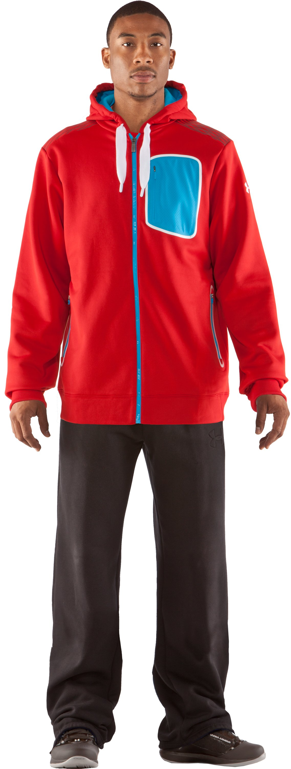Men's UA Fed Hill Hoodie, Red, Front