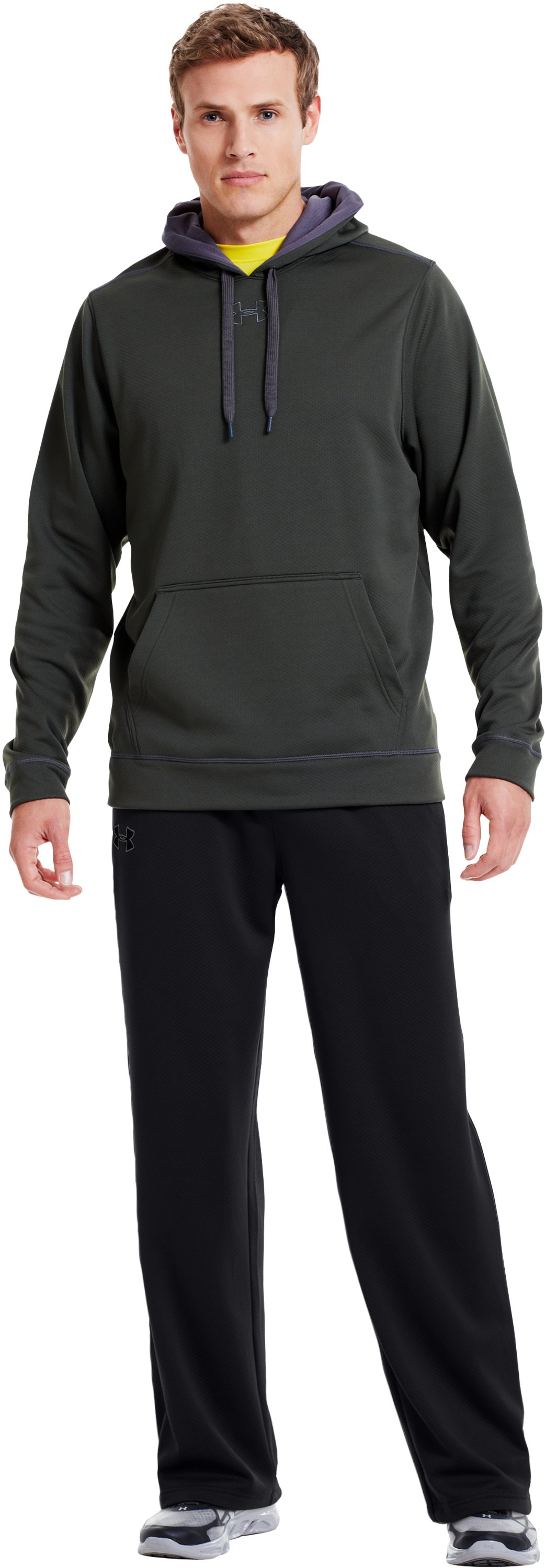 "Men's UA Tech™ Fleece 32"" Pants, Black , zoomed image"
