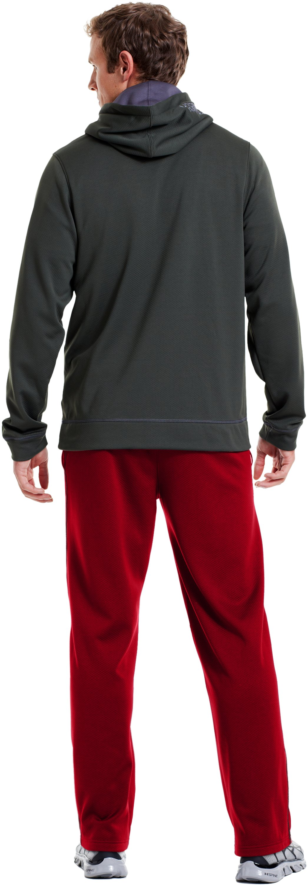 "Men's UA Tech™ Fleece 32"" Pants, Red, Back"