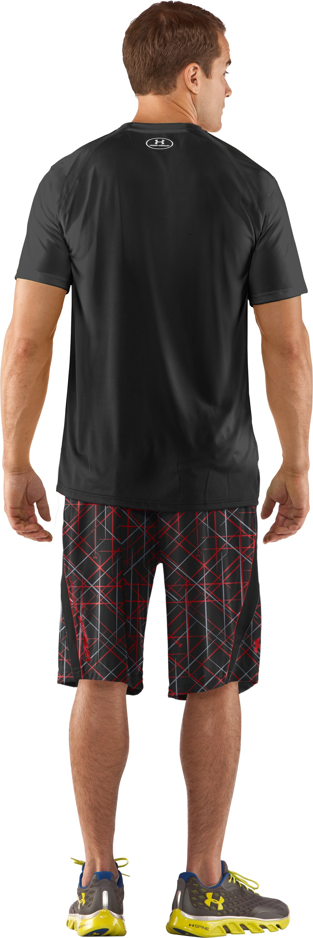 "Men's UA Multiplier Printed 10"" Shorts, Black , Back"