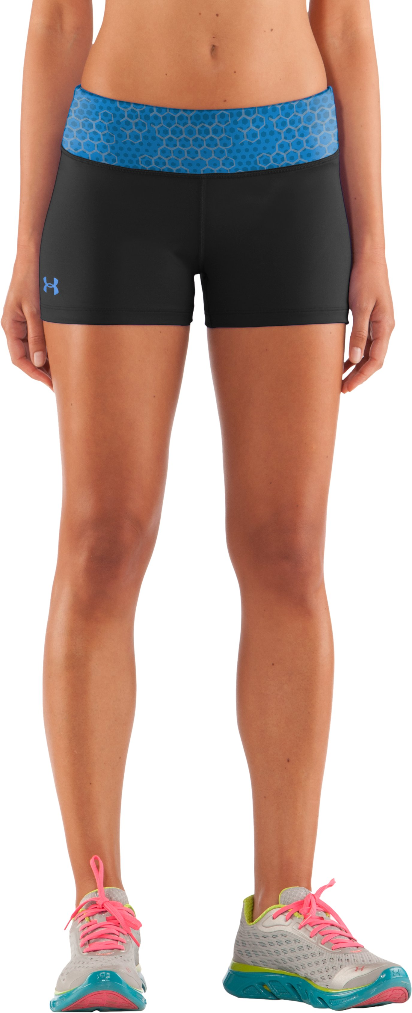 "Women's HeatGear® Sonic 2.5"" Shorty, Black , zoomed image"