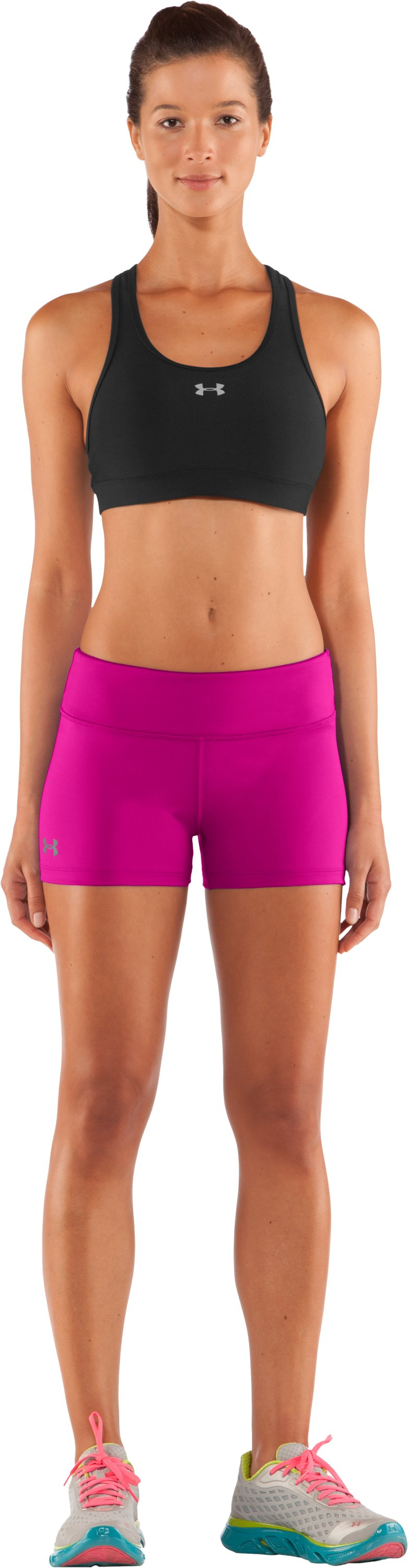 "Women's HeatGear® Sonic 2.5"" Shorty, Cerise, zoomed image"