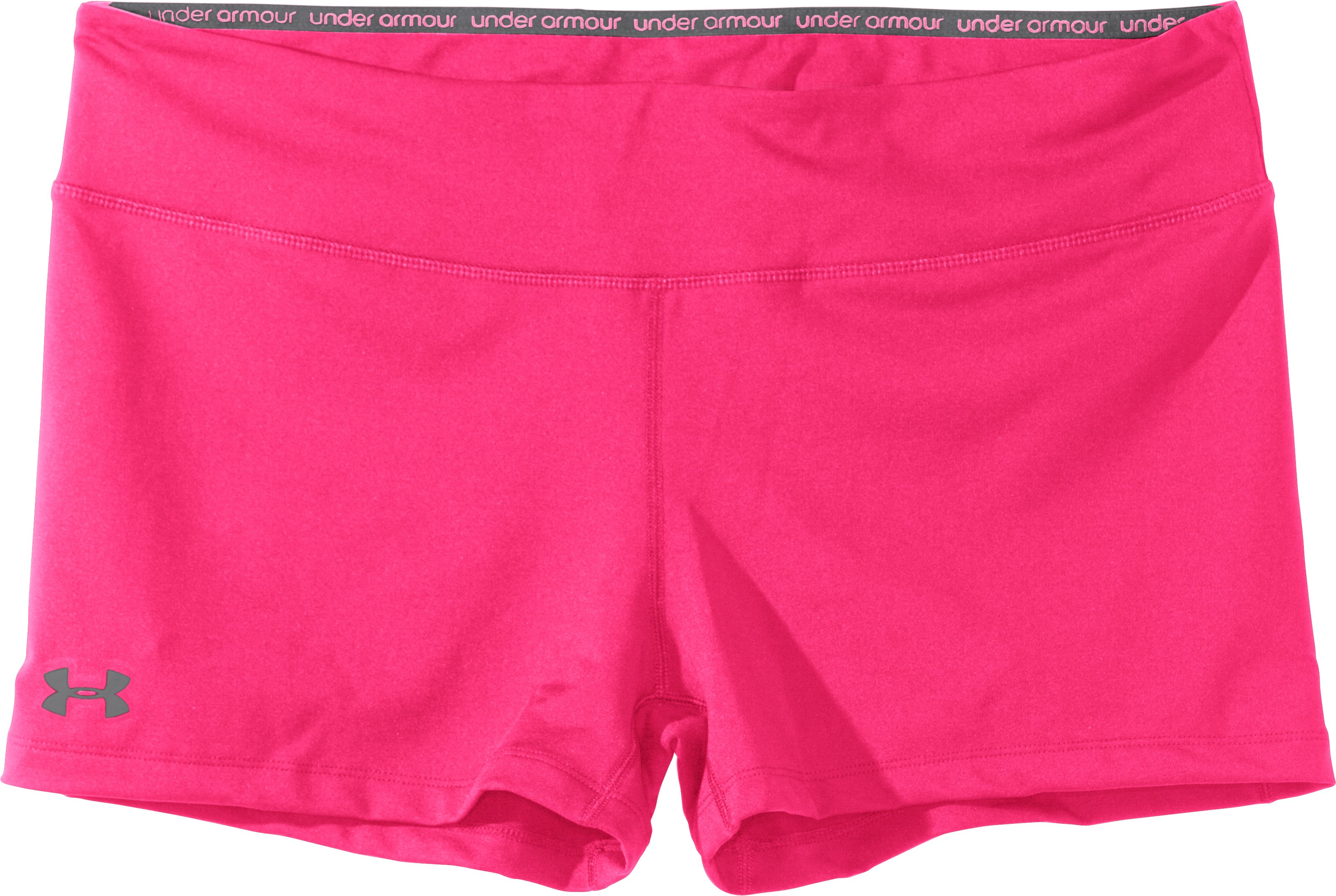 "Women's HeatGear® Sonic 2.5"" Shorty, PINKADELIC, Laydown"