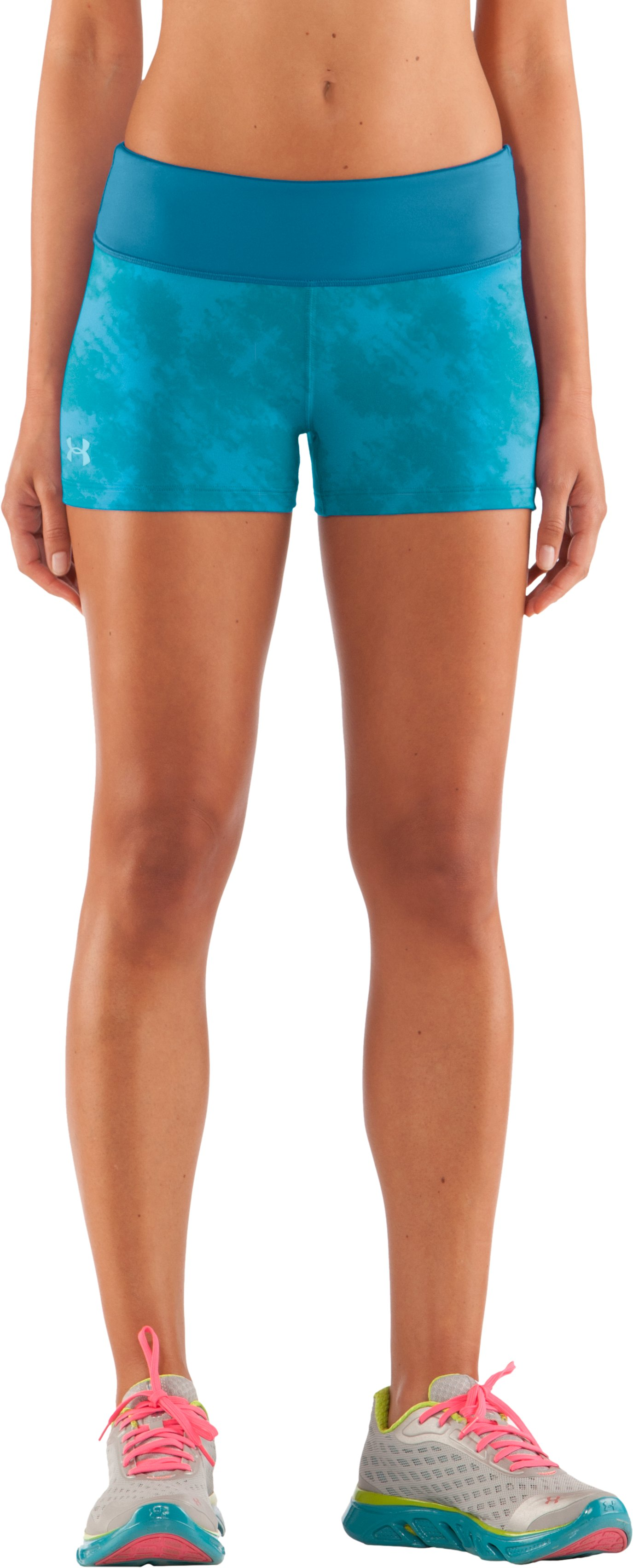 "Women's HeatGear® Sonic 2.5"" Printed Shorty, Cortez, zoomed image"