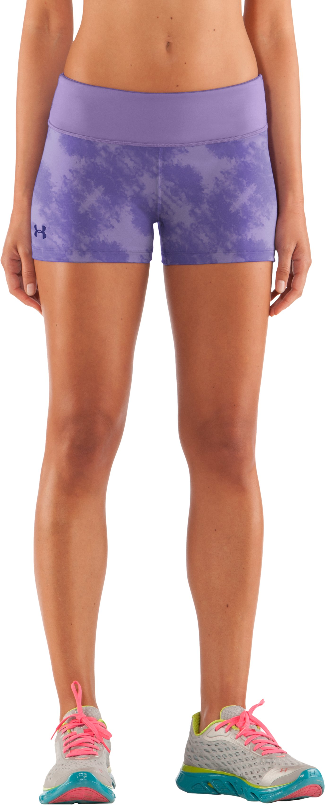 "Women's HeatGear® Sonic 2.5"" Printed Shorty, Petunia, zoomed image"