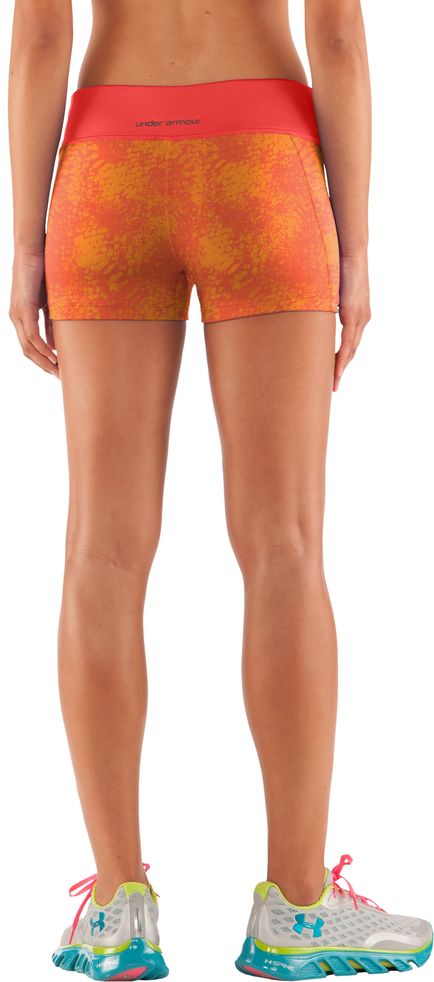 "Women's HeatGear® Sonic 2.5"" Printed Shorty, Fire"
