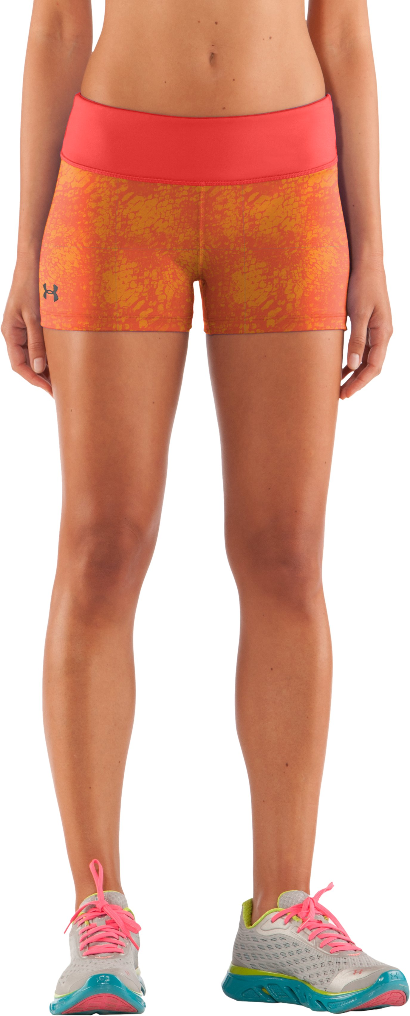 "Women's HeatGear® Sonic 2.5"" Printed Shorty, Fire, zoomed image"