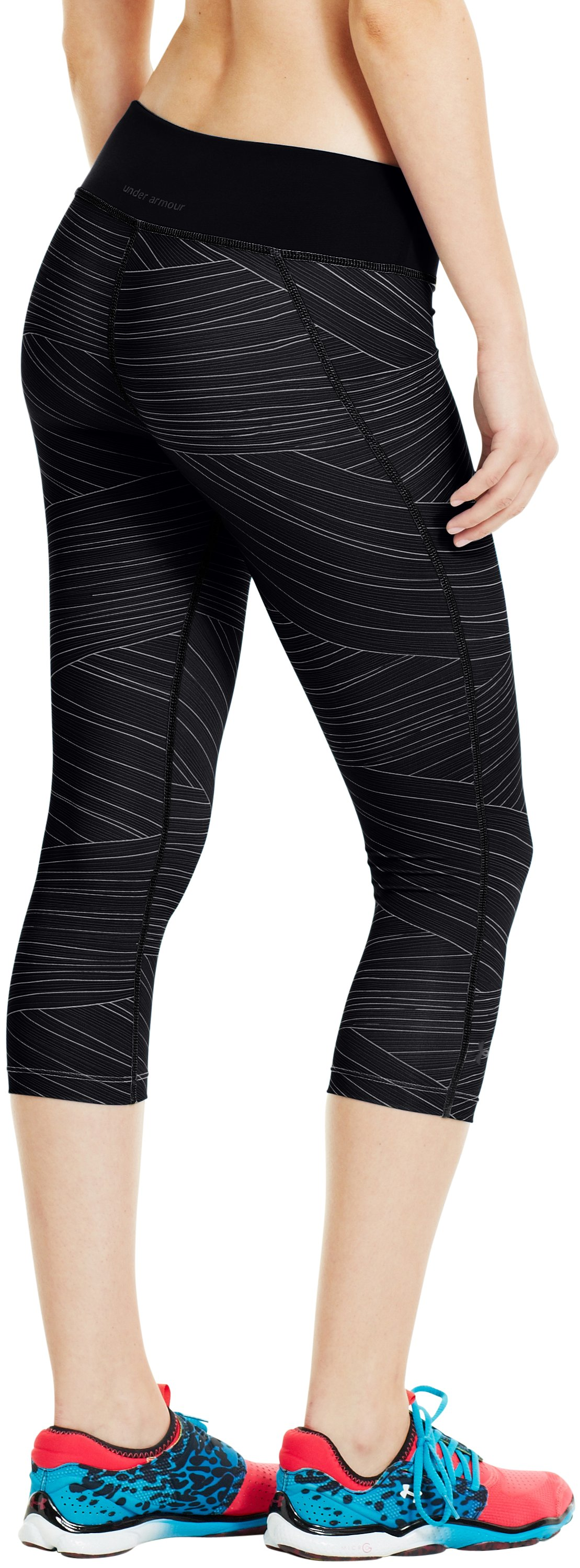 "Women's HeatGear® Sonic Printed 17"" Capri, Black"