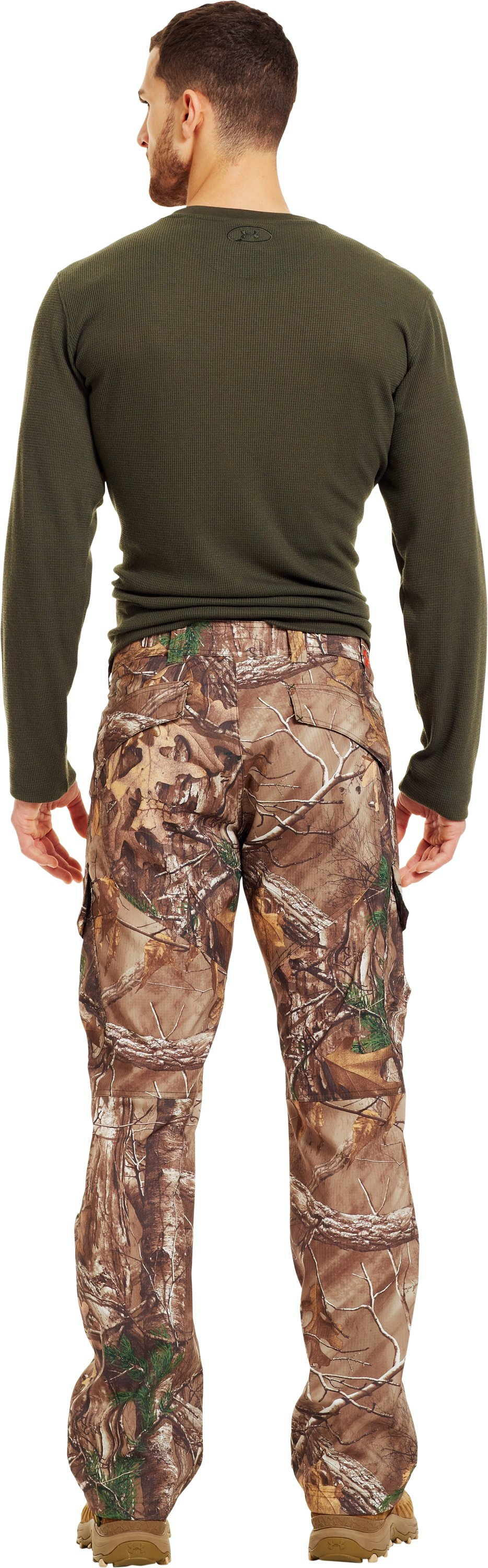 Men's UA Performance Field Pants, Mossy Oak Break-Up Infinity, Back