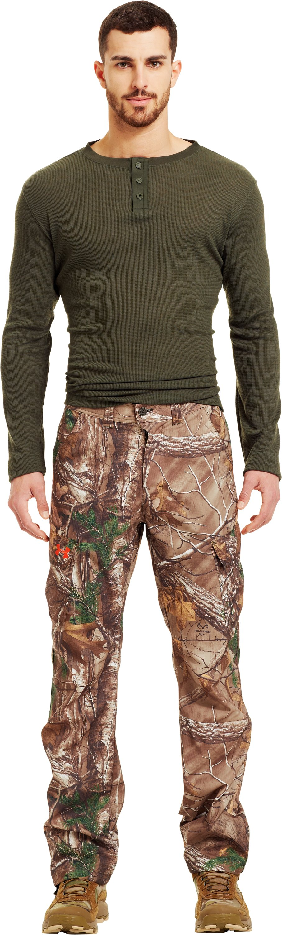 Men's UA Performance Field Pants, Mossy Oak Break-Up Infinity, Front