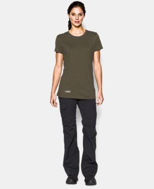 New Arrival  Women's UA Tactical Charged Cotton® T-Shirt LIMITED TIME: FREE SHIPPING 1 Color $29.99