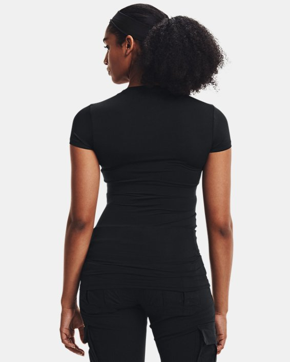 Women's UA Tactical HeatGear® Compression T, Black, pdpMainDesktop image number 4