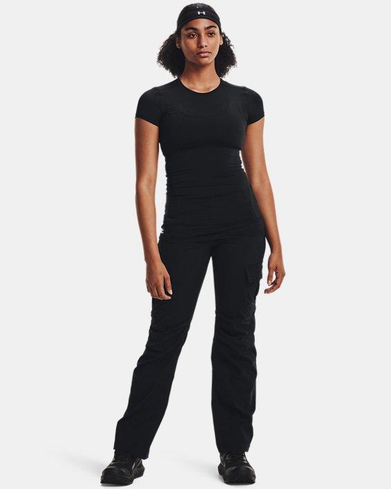 Women's UA Tactical HeatGear® Compression T, Black, pdpMainDesktop image number 3
