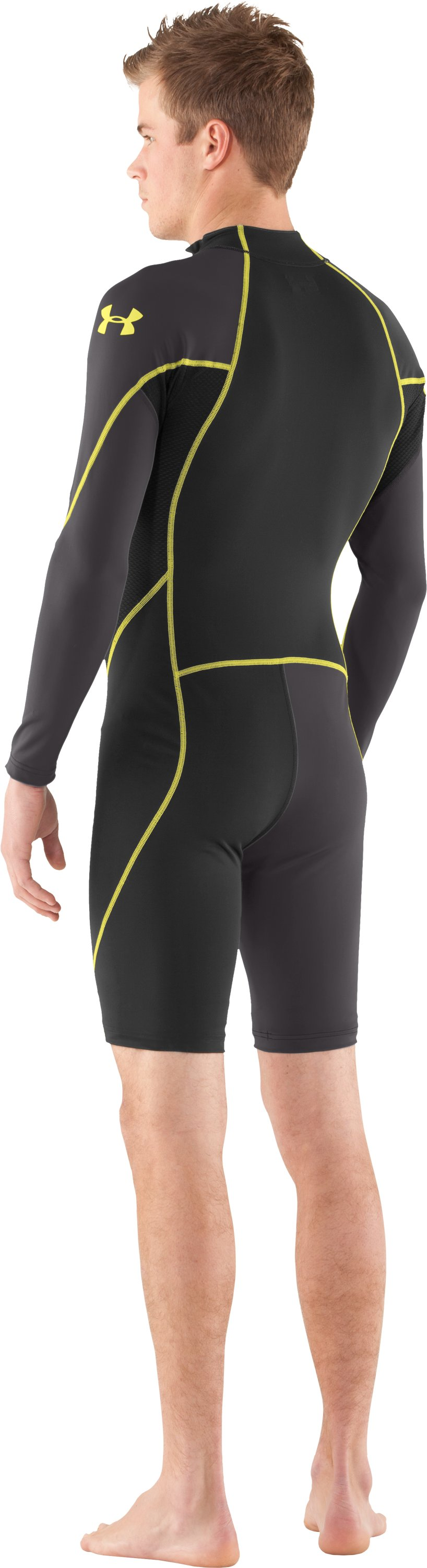 Men's UA Greyton Compression Suit, Black , Back