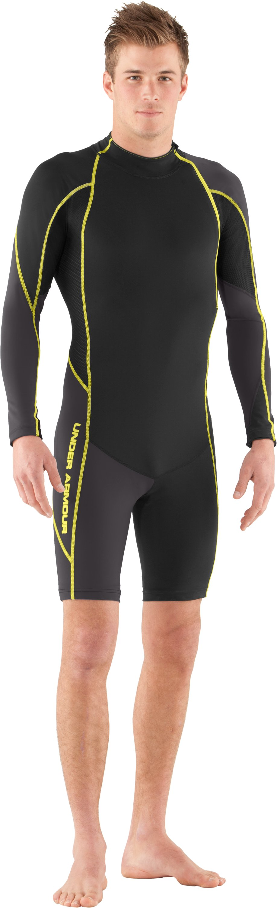 Men's UA Greyton Compression Suit, Black , Front