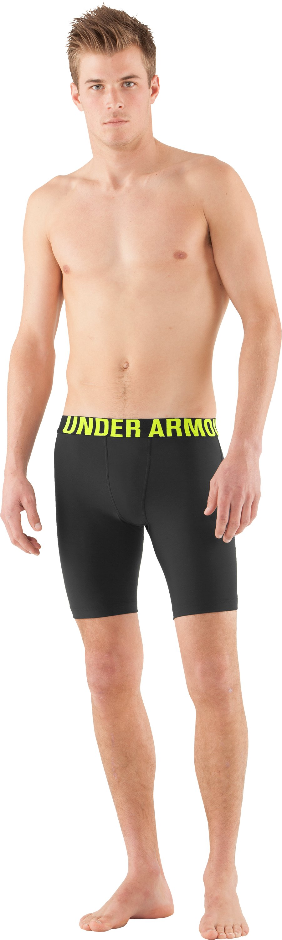 Men's UA Keewaydin Compression Shorts, Black , Front
