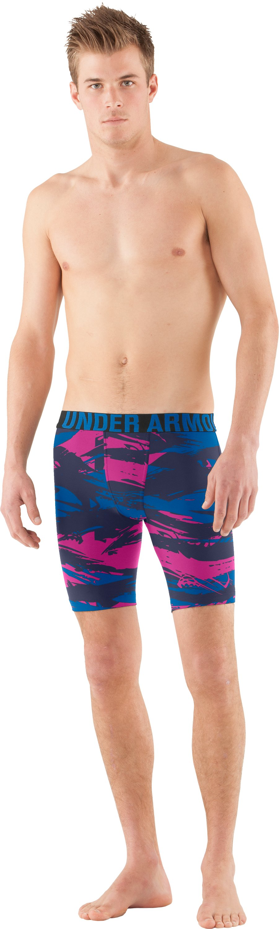Men's UA Keewaydin Compression Shorts, St. Tropez, Front