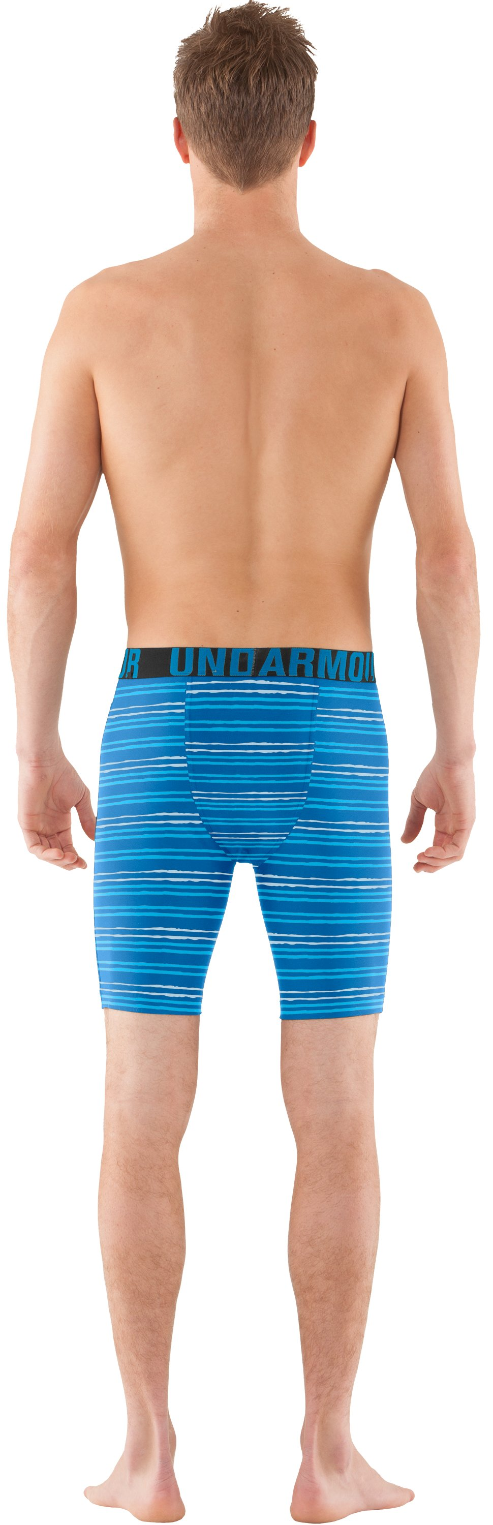 Men's UA Keewaydin Compression Shorts, STREAM, Back