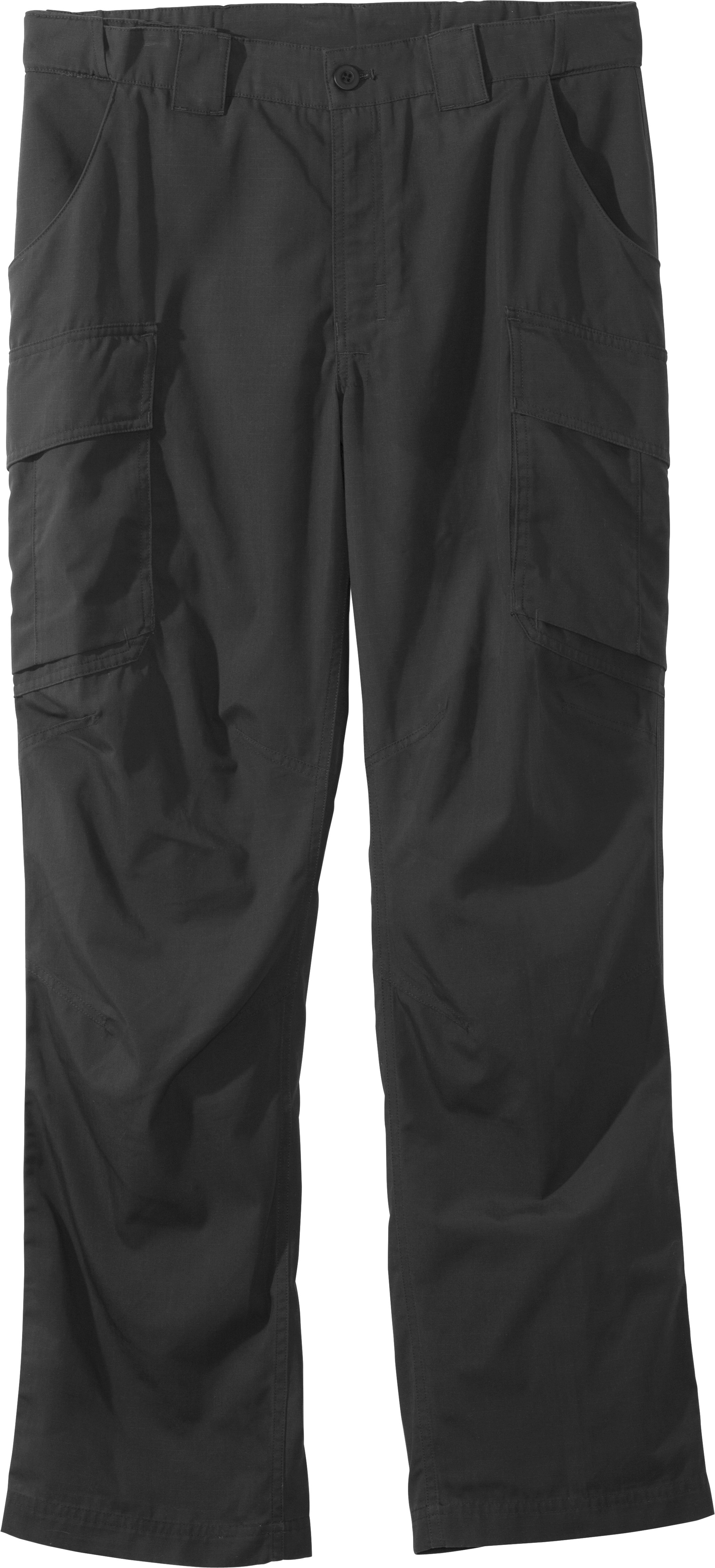 Men's UA Tactical Pants, Black , Laydown