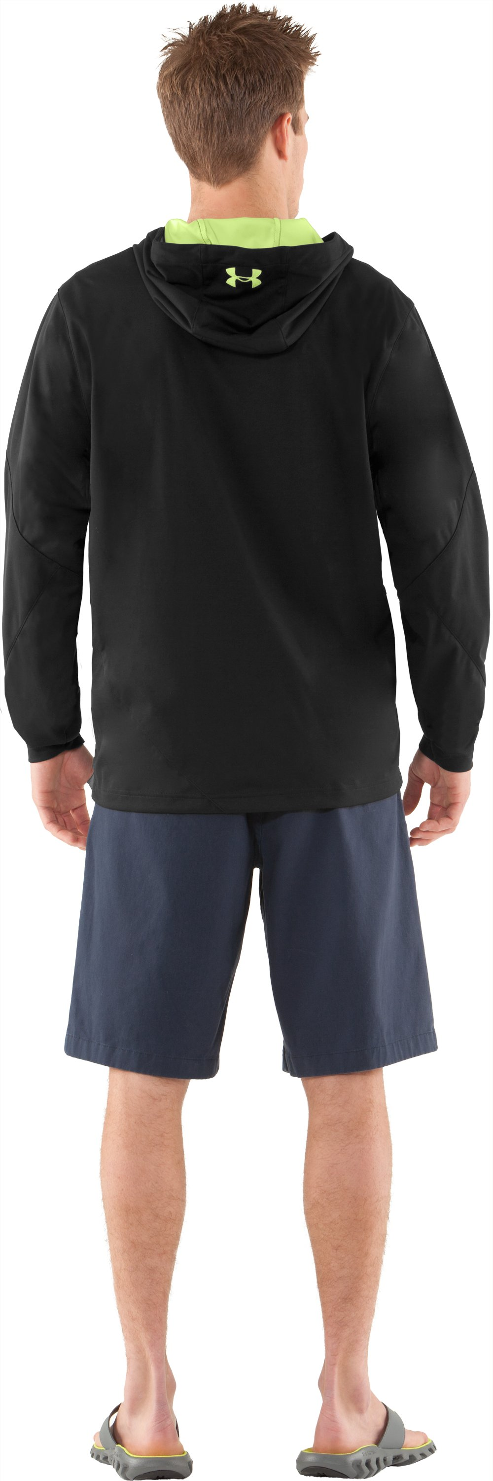 Men's UA Winokee Storm Windproof Hoodie, Black , Back