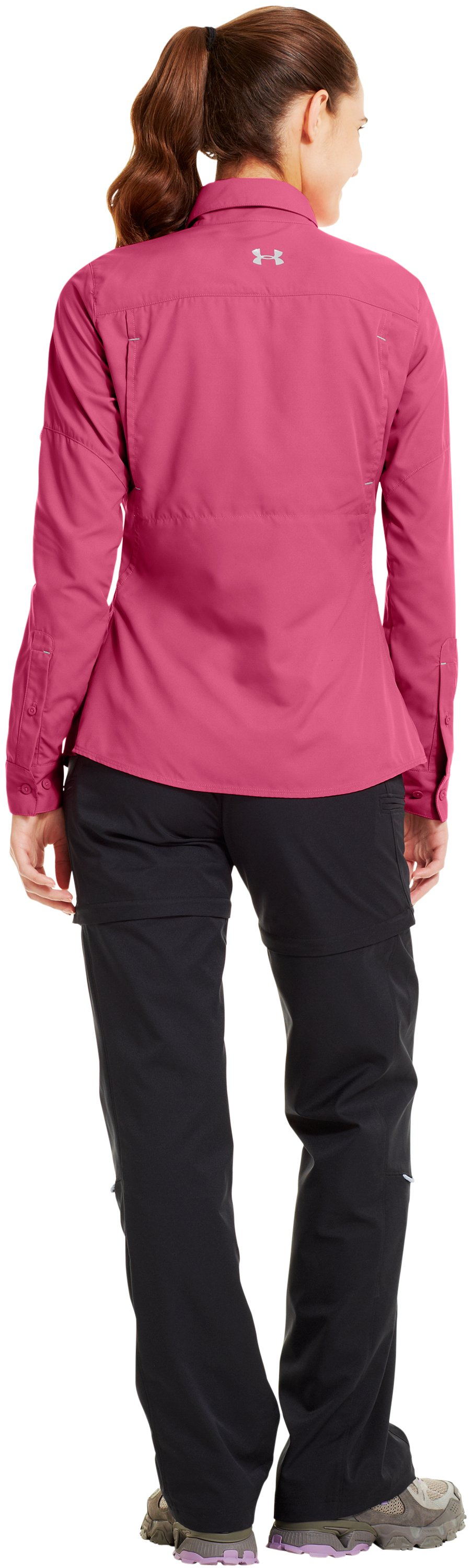 Women's UA Flats Guide Long Sleeve, LADYBELL, Back