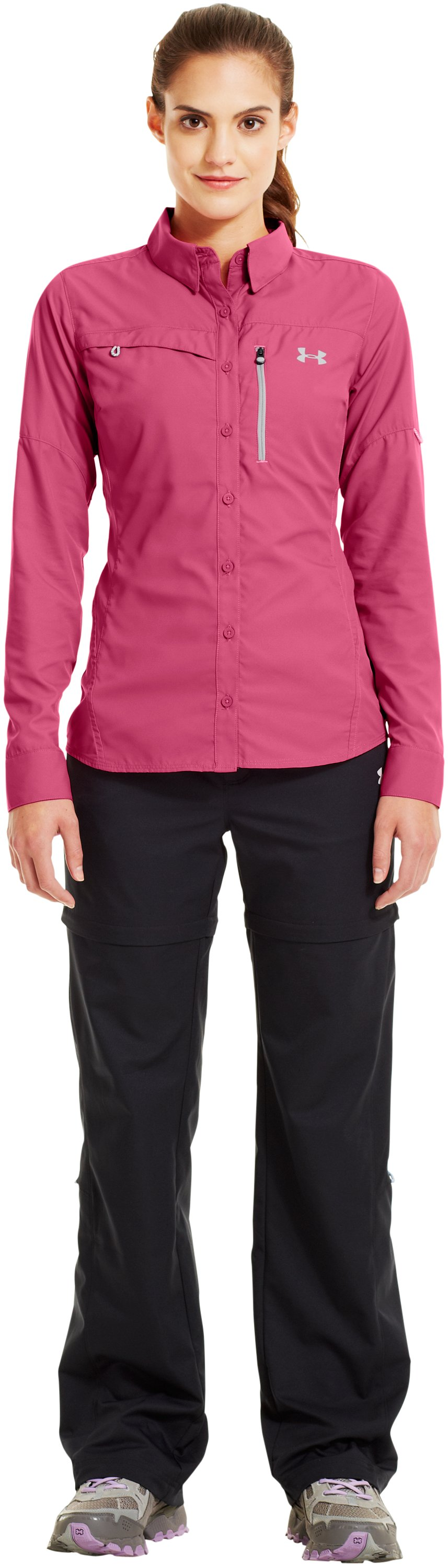 Women's UA Flats Guide Long Sleeve, LADYBELL, zoomed image