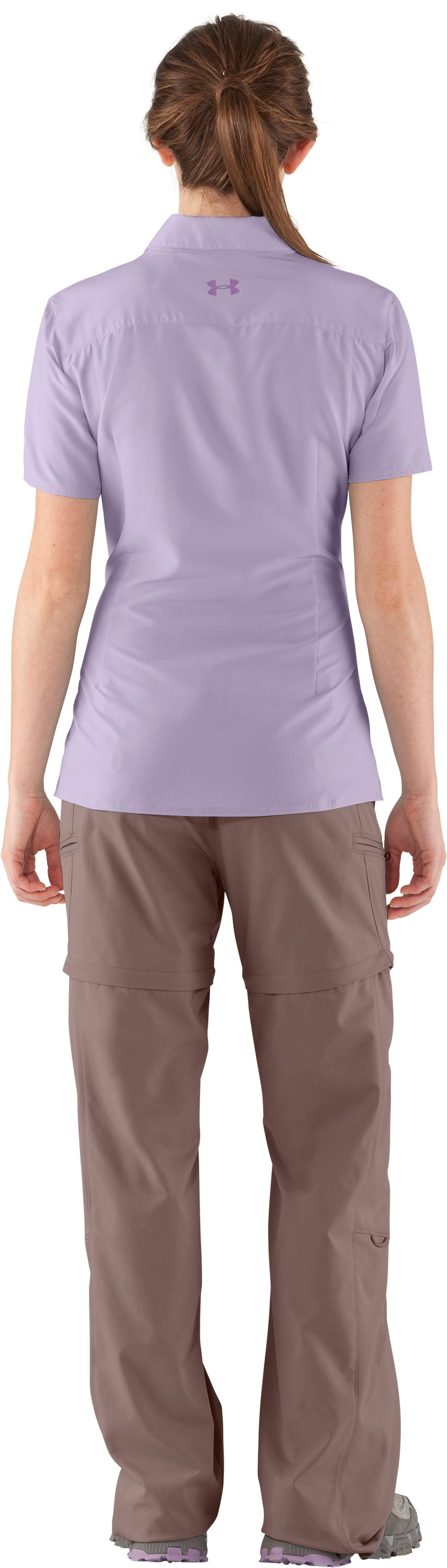 Women's UA Sedna Short Sleeve, Iris, Back