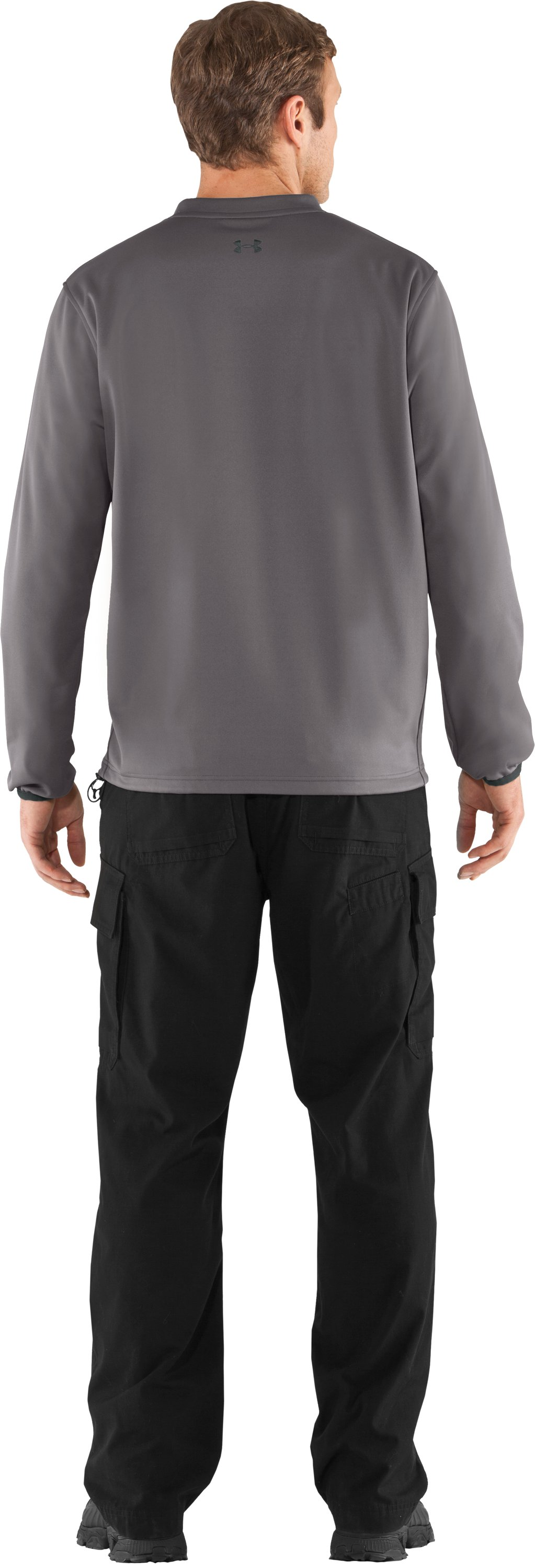 Men's UA Gust Breaker Pullover, Storm, Back