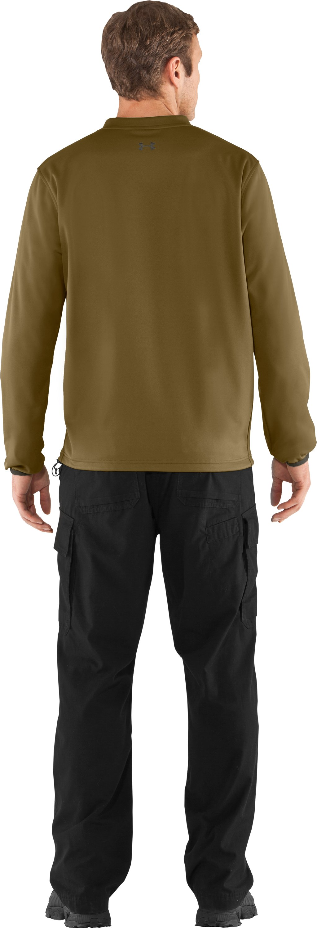 Men's UA Gust Breaker Pullover, Drab, Back