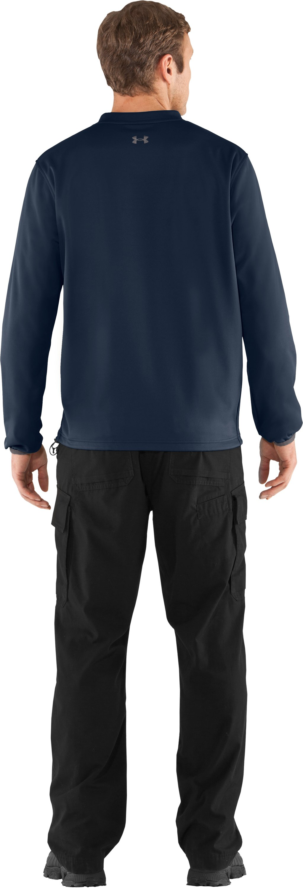 Men's UA Gust Breaker Pullover, Cadet, Back