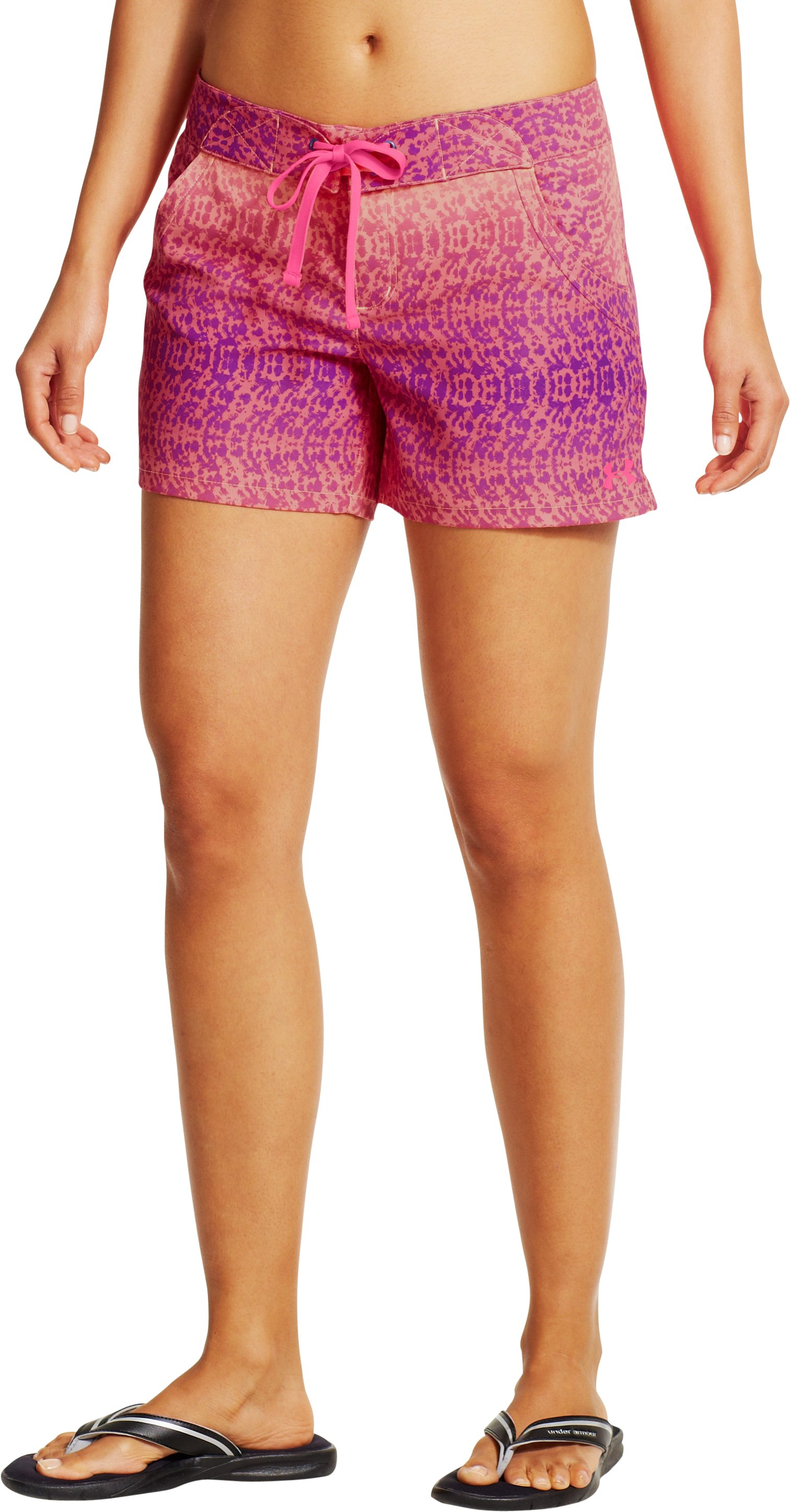 Women's UA Even Keel Board Shorts, Afterglow, zoomed image
