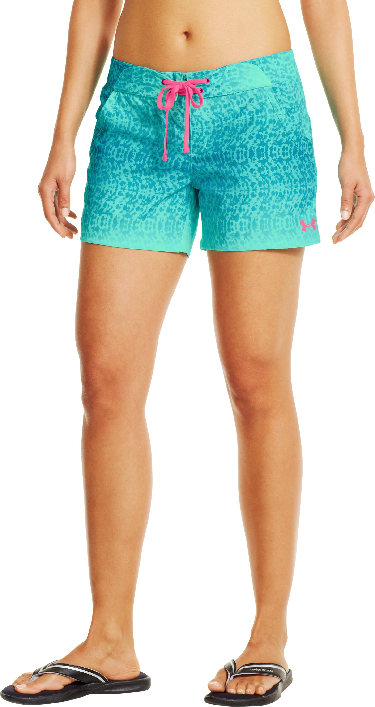Women's UA Even Keel Board Shorts, CRYSTAL, zoomed image