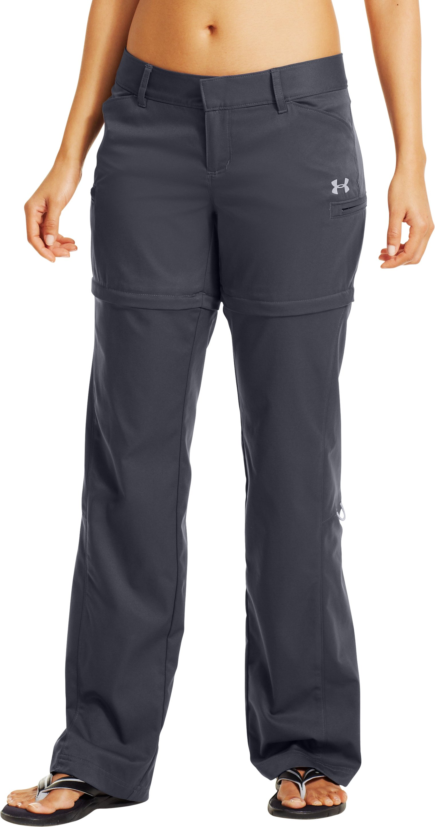 Women's UA Sedna Convertible Pants, Lead, zoomed image