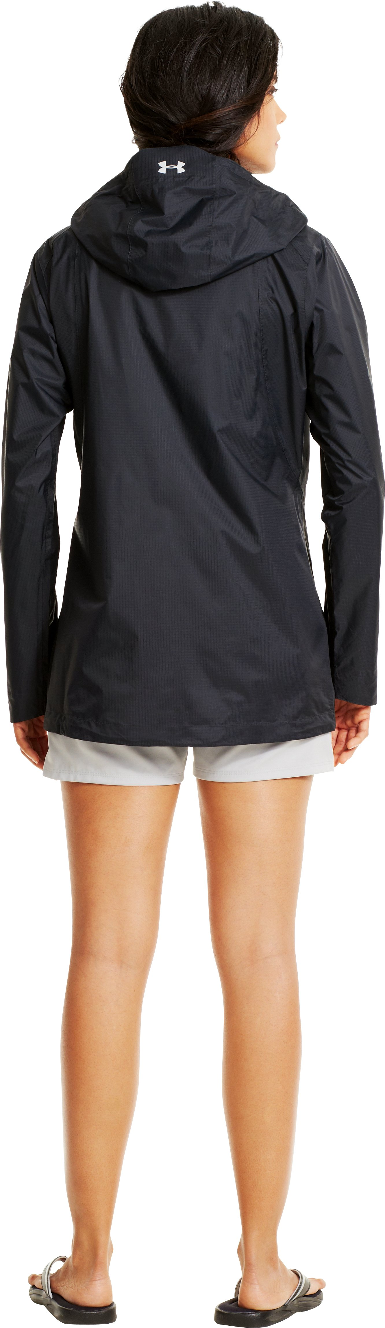 Women's UA Stormfront Jacket, Black , Back