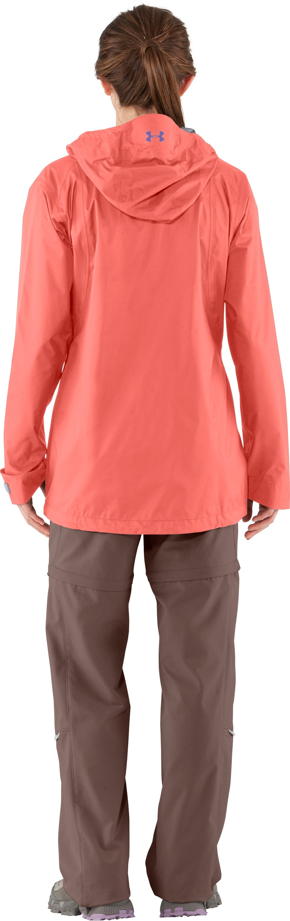 Women's UA Stormfront Jacket, HEUCHERA, Back