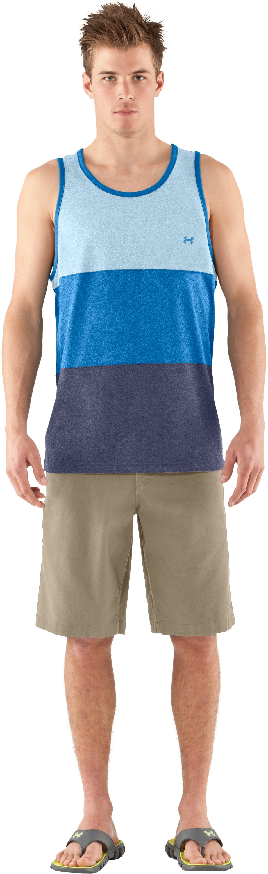 Men's UA Tech™ Bravo Tank, STREAM, Front