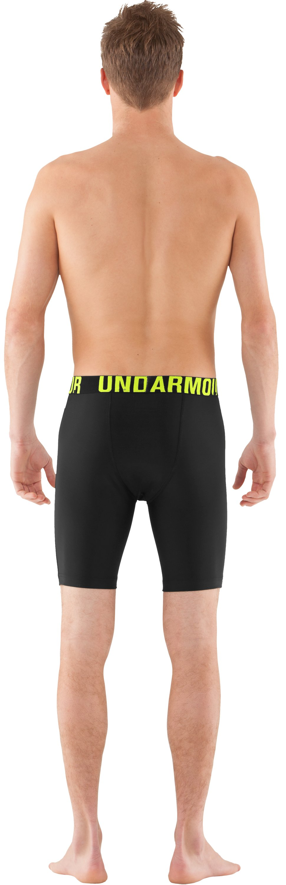 Men's UA Proraid Compression Shorts, Black , Back