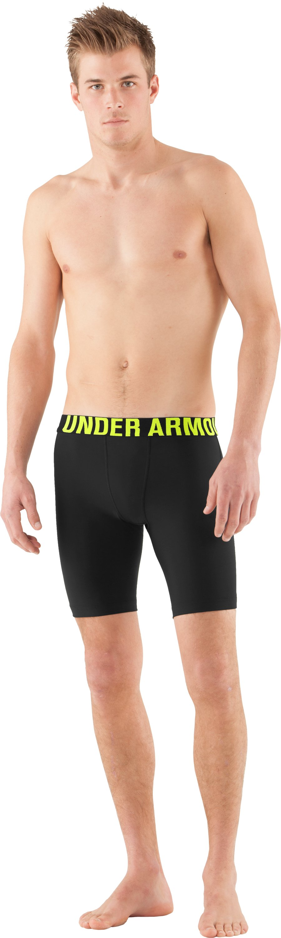 Men's UA Proraid Compression Shorts, Black , Front