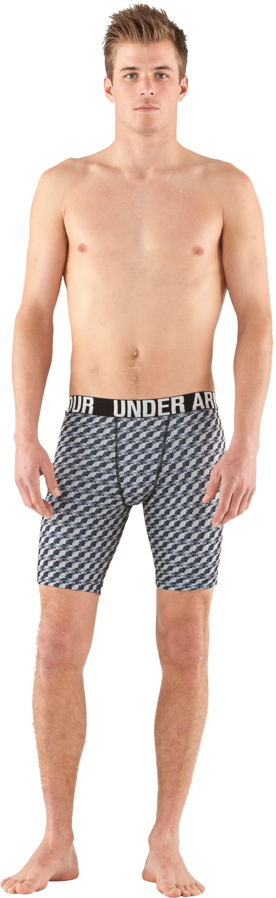 Men's UA Proraid Compression Shorts, Aluminum, zoomed image