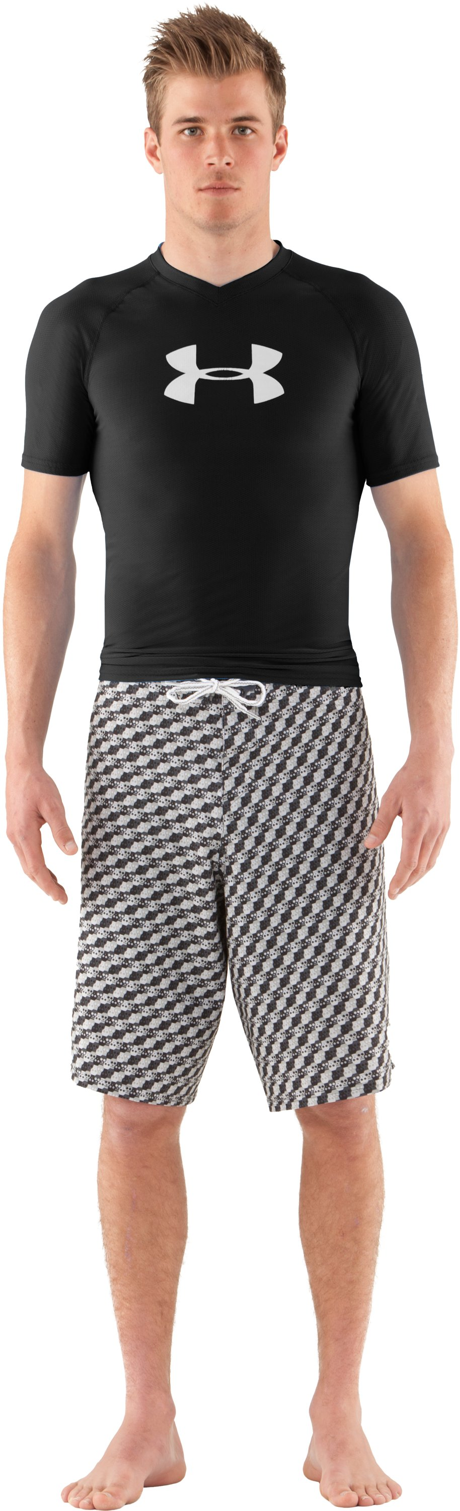 Men's UA Keewaydin Rash Guard, Black , zoomed image