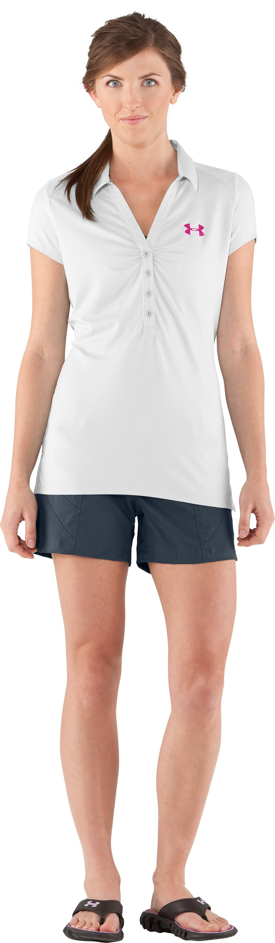 Women's UA Grove Polo, White, zoomed image