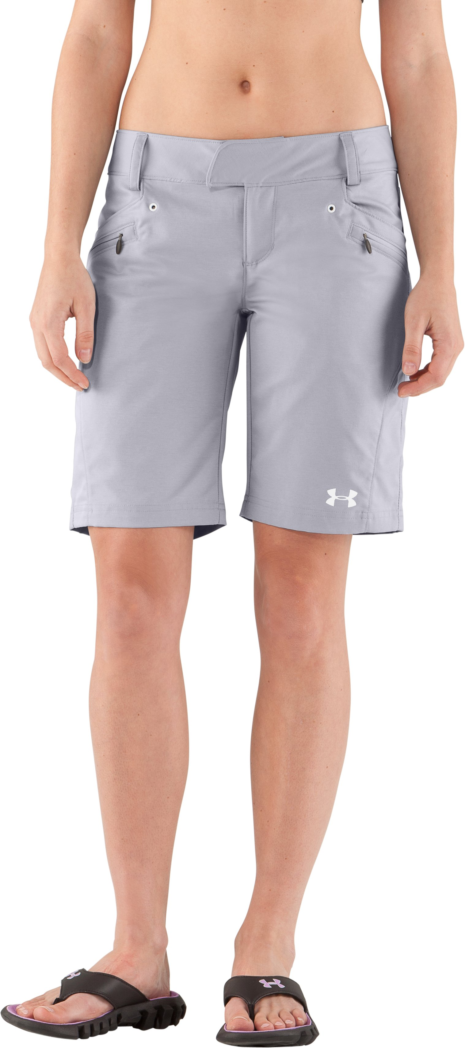 Women's UA Tellervo Walking Shorts, Aluminum