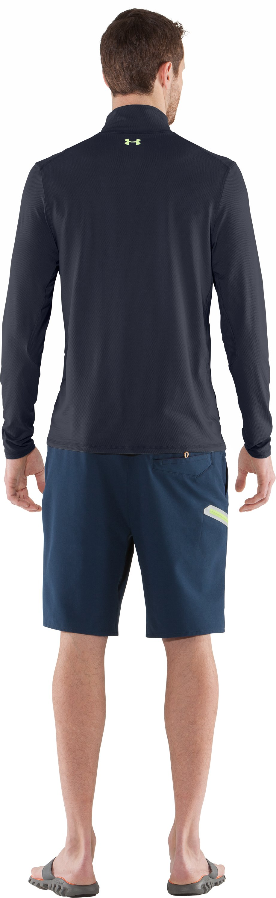 Men's coldblack® Abyss Knit Long Sleeve, DEEPWATER, Back