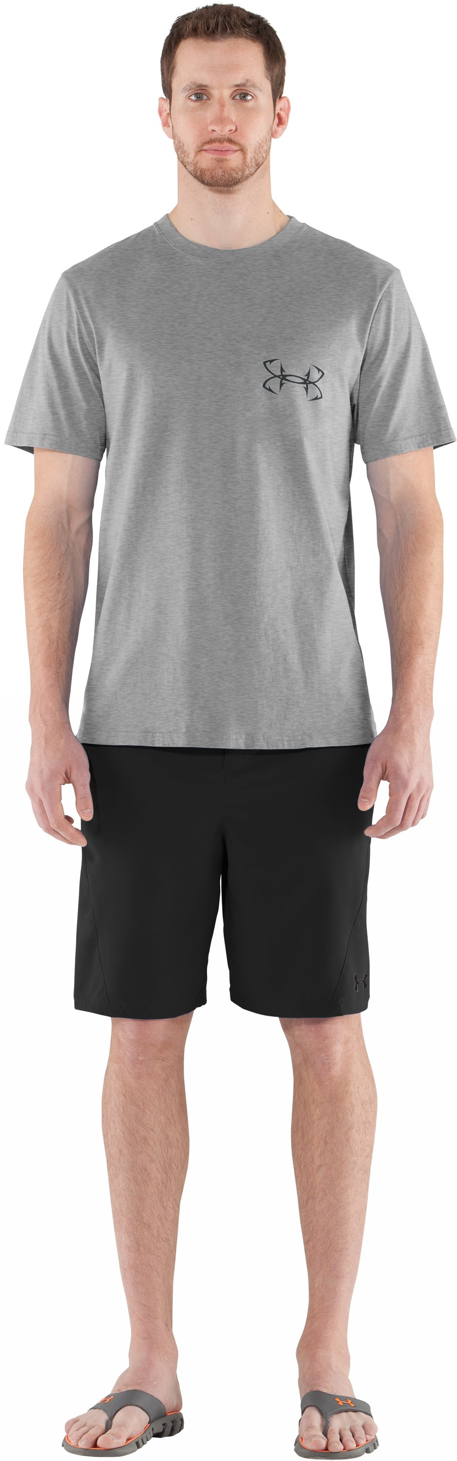 Men's UA Armoured™ Bass T-Shirt, True Gray Heather, Front